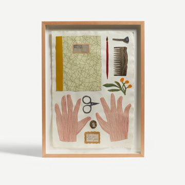 Notebook Possessions Collage by Jo Waterhouse