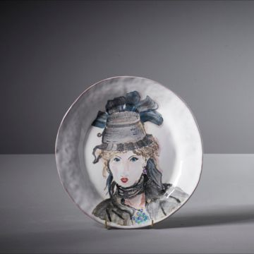 Berthe' Illustrated Plate by Agalis Manessi