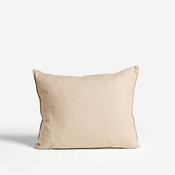 Feather Line Cushion in Charcoal