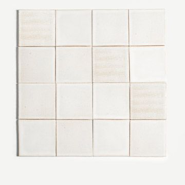 Incised Tile in White