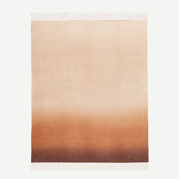 Nuance Ombre Cashmere Throw in Caramel Coast