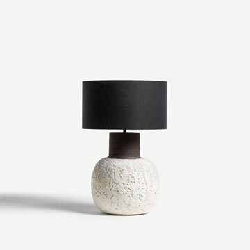 Lava Table Lamp in White (Round)