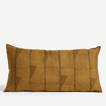 Feather Line Cushion in Mustard