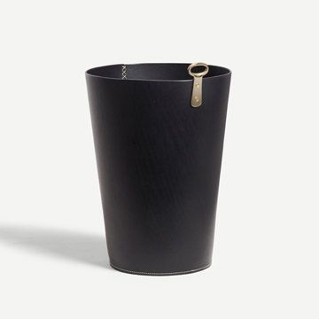 Eyelet Bin in Black (Bar Stitch)