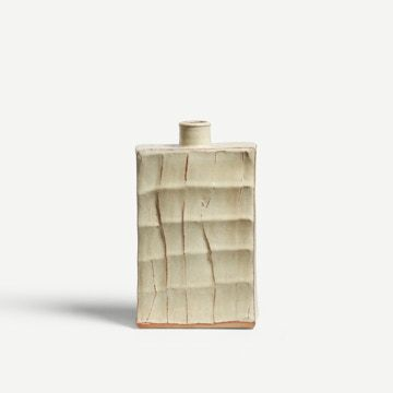 Wood Ash Faceted Flask III