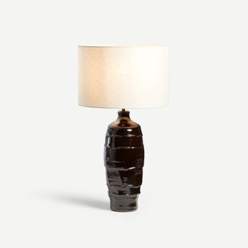 Faceted Table Lamp in Tenmoku (Tall)