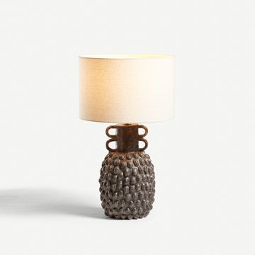 Speckled Grey Guardian Table Lamp (Large)
