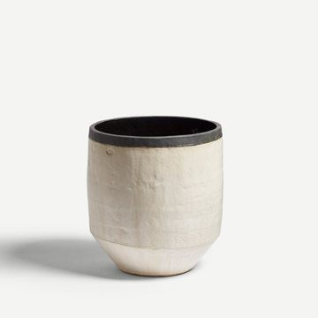 Black and White Open Vessel (Large)