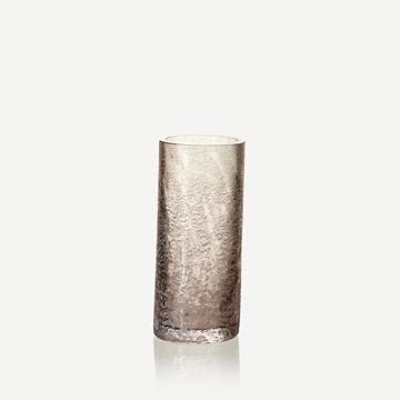 Grey Glass Cylinder (Small)