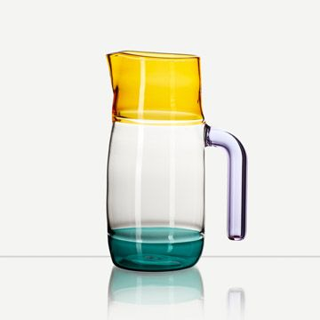 Incalmo Jug (Amber, Teal and Purple)