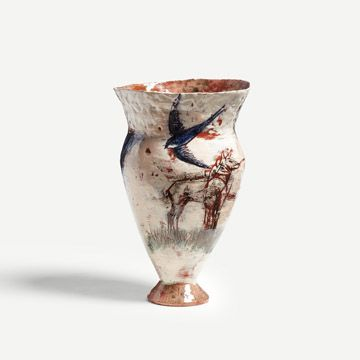 The Swifts were Late to Leave Vase
