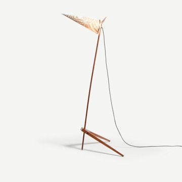 The Armitage Lamp with Fern Shade in Sand
