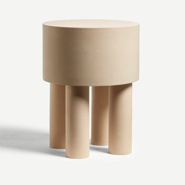 Pilotis Side Table (4 Legs) (Pink Clay)