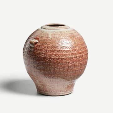 Shino Jar with Pulled Handles