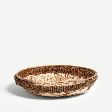 Basket With Cobbled Willow Shaves I