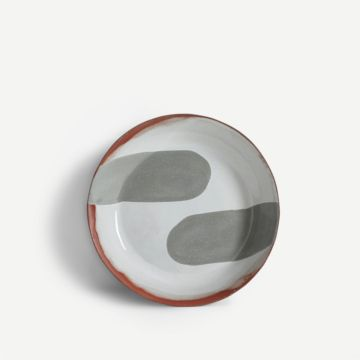 Terracotta Large Bowl (Grey) by The New Craftsmen