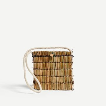 Stone and Pebble Ruched Rush Bag