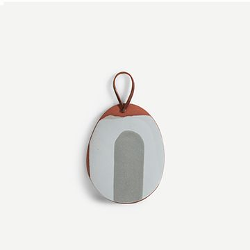 Small Platter with Handle (Grey)