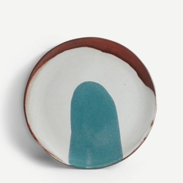 Terracotta Medium Plate (Teal)