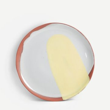 Terracotta Medium Plate (Yellow)