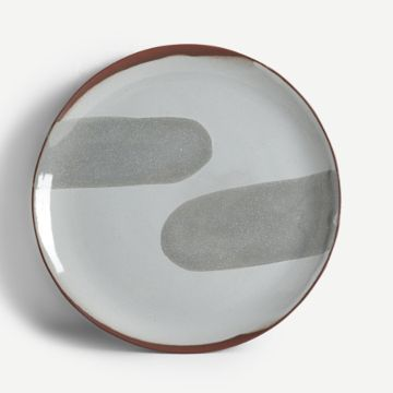 Terracotta Large Plate (Grey)